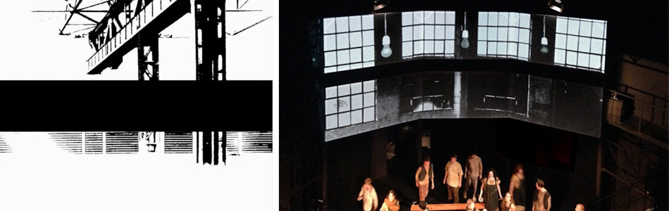 Bühnenbild Musical Oliver Globe, Neuss, 2014